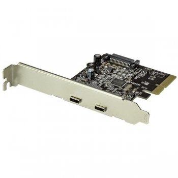 StarTech.com Tarjeta PCI Express de 2 Puertos USB 3.1 - Hub Ladrón Concentrador PCI-E Interno 2x USB C