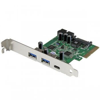StarTech.com Tarjeta Combo PCI Express de 5 Puertos USB 3.1 (10Gbps) - 1x USB-C, 2x USB-A - 2x IDC (5Gbps)