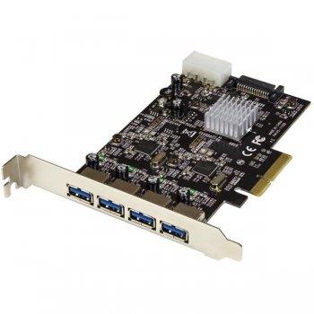 StarTech.com Tarjeta PCI Express de 4 Puertos USB 3.1 - con Puertos USB-A y 2 Canales Dedicados