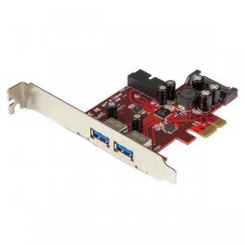 StarTech.com Adaptador tarjeta PCI Express de 2 puertos externos 2 internos USB 3.0 con alimentación SATA