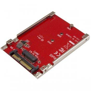StarTech.com Tarjeta Adaptador PCI Express M.2 a U.2 SFF8639 para SSD NVMe M.2 - Conversor para SSD M.2 - Tarjeta Anfitrión