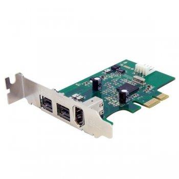 StarTech.com Adaptador Tarjeta FireWire PCI-Express Bajo Perfil de 2 Puertos F W 800 y 1 Puerto F W 400