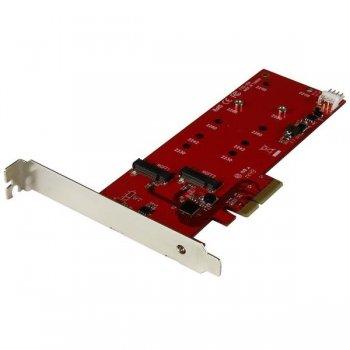 StarTech.com Tarjeta Controladora M.2 PCI Express para 2 SSD