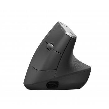 Logitech MX Vertical Advanced Ergonimic ratón RF inalámbrica + Bluetooth Óptico 4000 DPI mano derecha