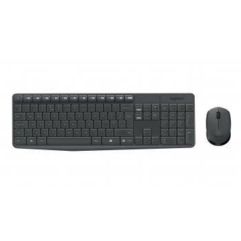 Logitech MK235 teclado RF inalámbrico QWERTY Español Gris