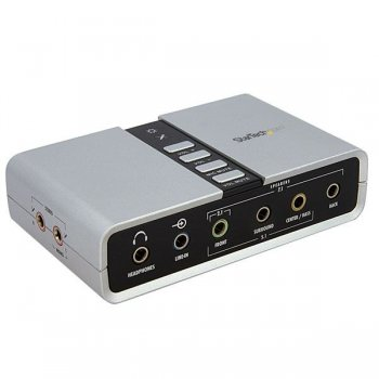 StarTech.com Tarjeta de Sonido 7,1 USB Externa Adaptador Conversor puerto SPDIF Audio Digital Óptico