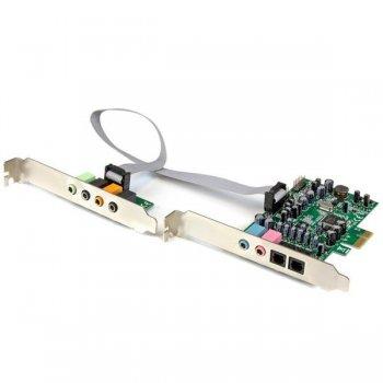 StarTech.com Tarjeta de sonido PCI Express con sonido envolvente de 7.1 canales 24bit 192 kHz