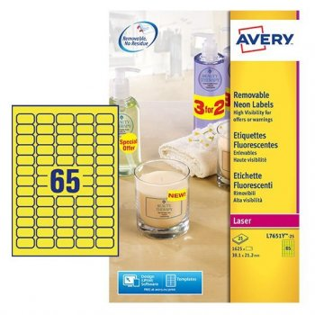 Avery White Mini Label - Laser - L7651 Amarillo