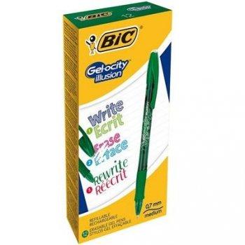 BIC Gel-ocity illusion Bolígrafo de gel con tapa Verde 12 pieza(s)