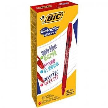 BIC Gel-ocity illusion Bolígrafo de gel con tapa Rojo 12 pieza(s)