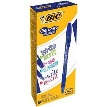 BIC Gel-ocity illusion Bolígrafo de gel de punta retráctil Azul 12 pieza(s)