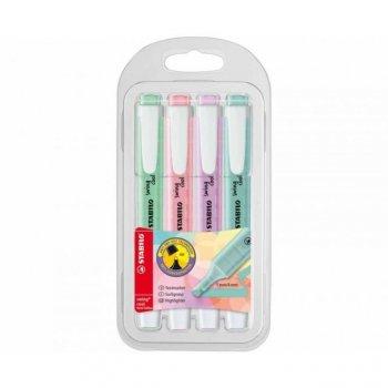 STABILO 102754804 marcador 4 pieza(s) Multicolor Punta de cincel
