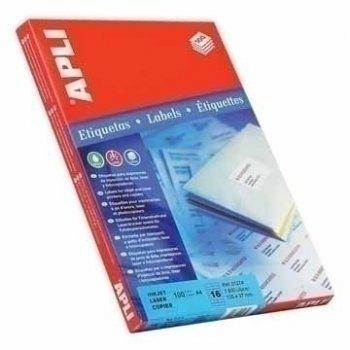 APLI Labels Round corners 199.6 x 144.5mm etiqueta autoadhesiva Blanco 200 pieza(s)