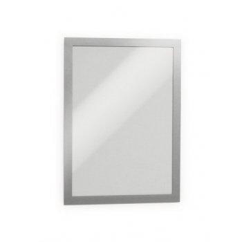 Durable 4872-23 marco magnético A4 Plata