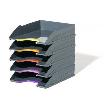 Durable VARICOLOR bandeja de escritorio De plástico Antracita, Multicolor