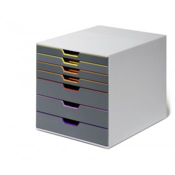 Durable Varicolor 7 bandeja de escritorio Gris, Multicolor