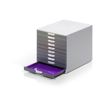 Durable VARICOLOR 10 bandeja de escritorio De plástico Multicolor