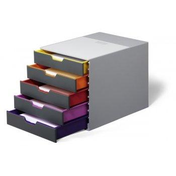 Durable VARICOLOR 5 bandeja de escritorio De plástico Multicolor