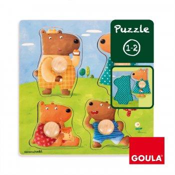 Goula Bear Family Puzzle Rompecabezas de figuras 4 pieza(s)
