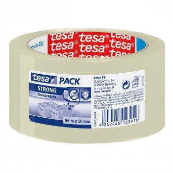 TESA Clear Strong cinta adhesiva 66 m Transparente Polipropileno 1 pieza(s)