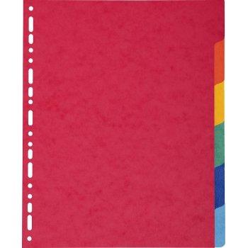 Exacompta 2406E divisor Multicolor Cartón 6 pieza(s)