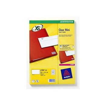Avery L7551-25 etiqueta de impresora Transparente