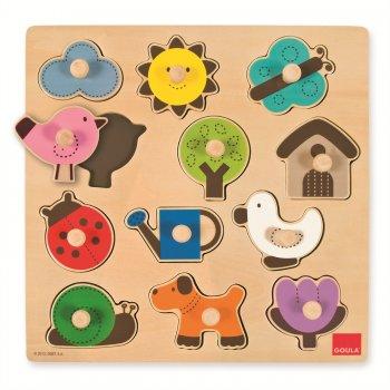 Goula Countryside Silhouette Puzzle Rompecabezas de figuras 12 pieza(s)