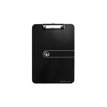 Herlitz 11205663 portapapel Negro De plástico, Poliestireno