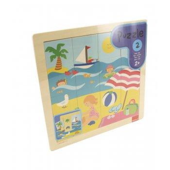 Goula Puzzle Summer Rompecabezas con pistas dibujadas