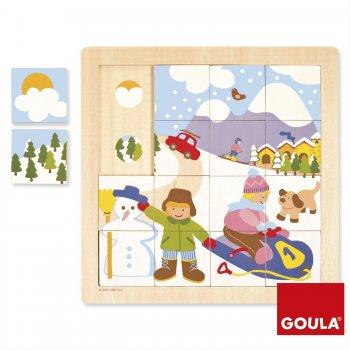 Goula Winter Puzzle Rompecabezas con pistas dibujadas