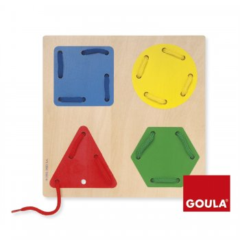 Goula Lacing Game Geometric Shapes