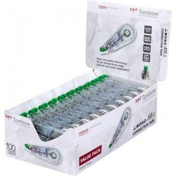 Tombow CT-CA4-20 corrección de películo cinta Verde, Transparente, Blanco 10 m 20 pieza(s)