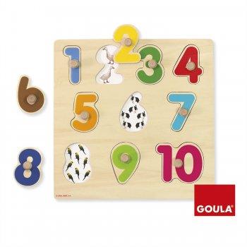 Goula Numbers Puzzle Rompecabezas de figuras 10 pieza(s)