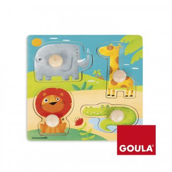 Goula Jungle Animals Puzzle Rompecabezas de figuras 4 pieza(s)