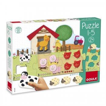Goula 1-5 Puzzle Rompecabezas de figuras 6 pieza(s)