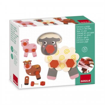 Goula Farm Animals Twist & Play juguete de habilidad motora
