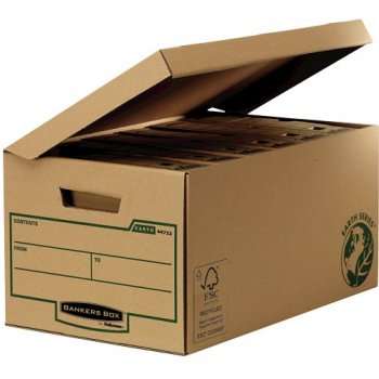 Fellowes 4472205 caja de almacenaje Negro, Marrón Rectangular Papel