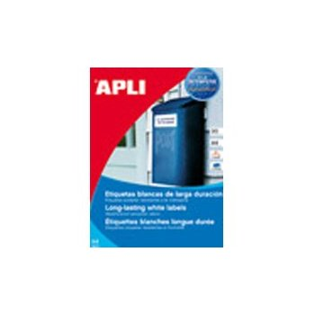 APLI 12121 etiqueta autoadhesiva 100 pieza(s)
