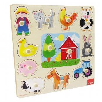 Goula Farm Silhouttes Puzzle Rompecabezas de figuras 12 pieza(s)