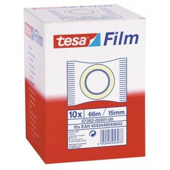 TESA 57382 cinta adhesiva 66 m Transparente 10 pieza(s)