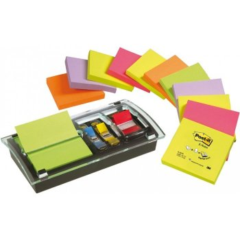 Post-It DS 100 VP dispensador de papel para notas Especial Negro, Transparente