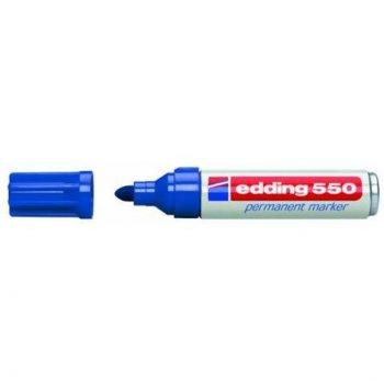 Edding 4-550 003 marcador permanente Azul Punta de cincel 10 pieza(s)
