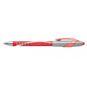 Papermate Flexgrip Elite Rojo Clip-on retractable ballpoint pen 12 pieza(s)