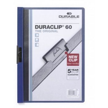 Durable Duraclip 60 archivador Azul, Transparente PVC