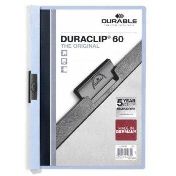 Durable Duraclip 60 archivador Azul claro, Transparente PVC