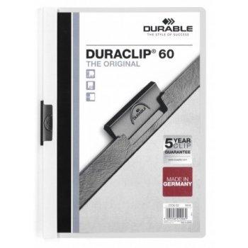 Durable Duraclip 60 archivador Transparente, Blanco PVC