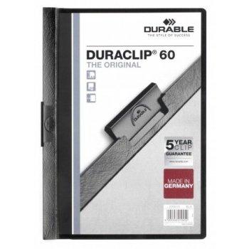 Durable Duraclip 60 archivador Negro, Transparente PVC