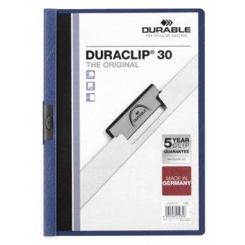Durable Duraclip 30 archivador Azul, Transparente PVC