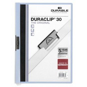 Durable Duraclip 30 archivador Azul claro, Transparente PVC