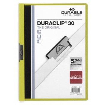 Durable Duraclip 30 archivador Verde, Transparente PVC
